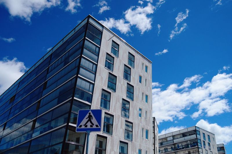 Architecture Building Exterior Built Structure Sky Cloud - Sky Low Angle View City Building Window Blue No People Day Glass - Material Modern Outdoors Sunlight Residential District My Best Photo The Architect - 2019 EyeEm Awards The Street Photographer - 2019 EyeEm Awards