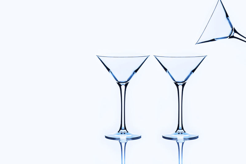 3 Glasses Alcohol Close-up Cocktail Day Drink Drinking Glass Freshness Martini Martini Glass No People Studio Shot White Background
