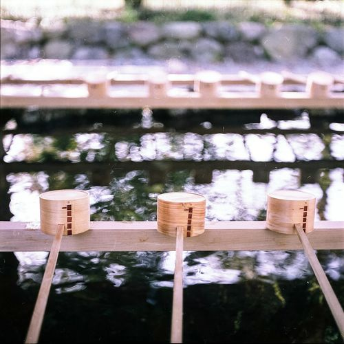 No People Built Structure Architecture Day Outdoors Building Exterior Close-up Water Tree Nature Sky Shinto Shrine Tokyo, Japan Film Photography Medium Format 6x6