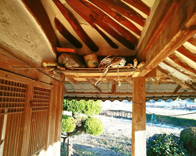 There are many storys under my grandma's roof. Built Structure Traditional House Of Korea Traditional House Roof