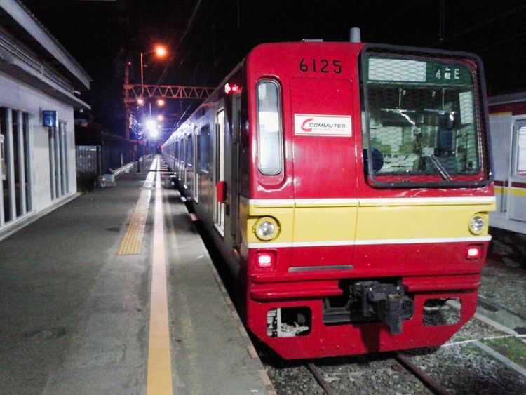 sepi Commuterline Train Station Red Mode Of Transport Transportation Public Transportation City No People Night