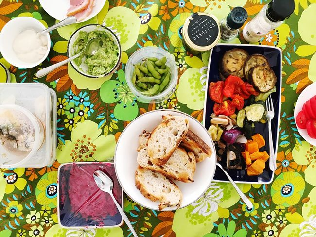 Healthy Eating Salad Vegetable Food Food And Drink Plate Variation Ready-to-eat High Angle View Freshness Meal Directly Above