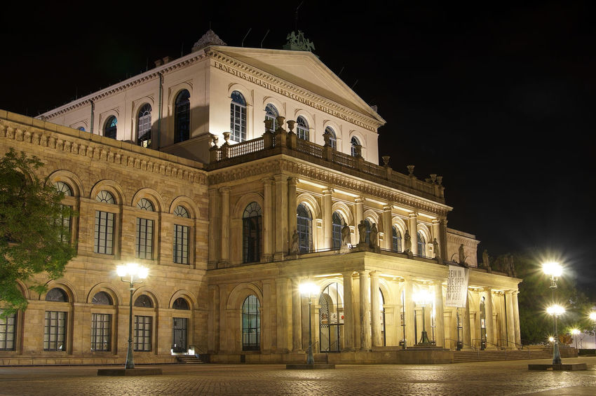 Staatsoper Hannover opera house Architecture Building Building Exterior Classical Culture Dark Exterior Façade Germany Hannover Historic Illuminated Landmark Lit Night Oper Opera House Opernhaus Sightsseing Staatsoper Travel