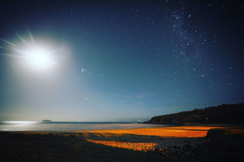 Australian night Australia Emerald Beach Ocean View Star - Space Astronomy Beauty In Nature Constellation Scenics Nature Night No People Horizon Over Water Outdoors Milky Way