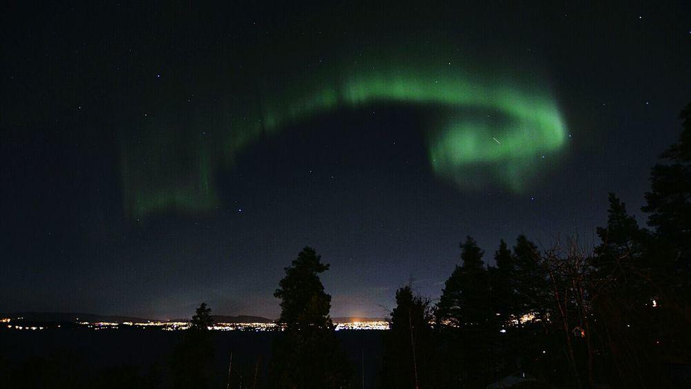 Amazing northern lights over Oslo. Light Night Lights Norway Northern Lights Night Night View Stella Polaris Polaris