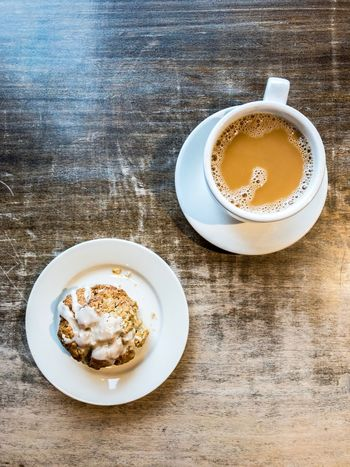 Drink Table Coffee - Drink Plate Food And Drink Coffee Cup Refreshment High Angle View Freshness Still Life Frothy Drink Indoors  Directly Above Breakfast Saucer No People Healthy Eating Serving Size Food Froth Art