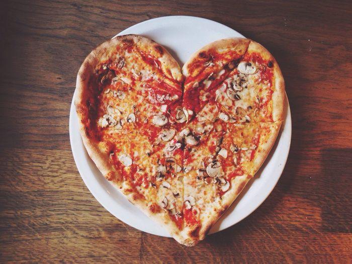 Heart Pizza Food RePicture Love Food Porn Awards EyeEm Bestsellers