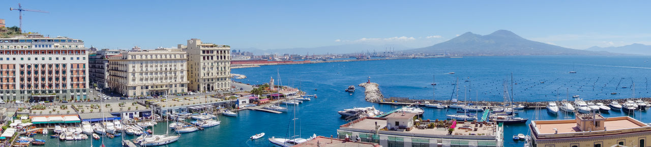 Stunning view of Naples city sunny landscape sea and Vesuvio Bay Of Naples, Italy. Harbor High Angle View Landscape Mountain Naples, Italy Napoli Outdoors Stunning Sunny Travel Destinations Vesuvio Vesuvius  View Water