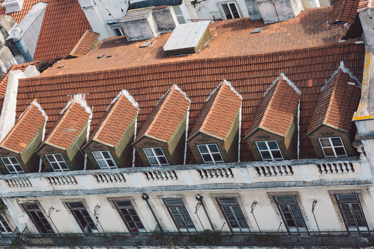Lisbon Lisboa Lisboa Portugal Lisbon - Portugal Portugal Building Exterior Built Structure Architecture Roof Building Residential District In A Row No People Day Window City House Outdoors Nature Side By Side Repetition High Angle View Order Roof Tile Town Row House TOWNSCAPE