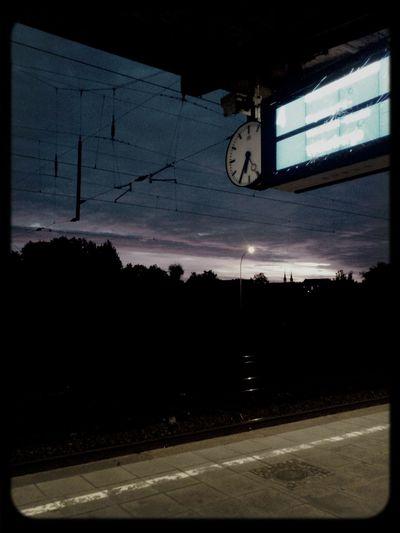 sunrise <3 Sunrise Goodmorning Trainstation