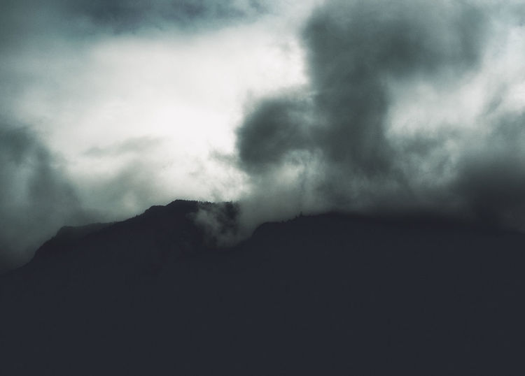 Dark Silhouette Clouds And Sky Day Fujifilm Italy Landscape Light And Shadow Majestic Mood Mountain Nature No People Outdoors Scenics Weather