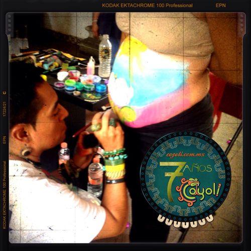Pintando una nueva vida !!! Painting Body Painting Pregnant Pancita Coyoli Art