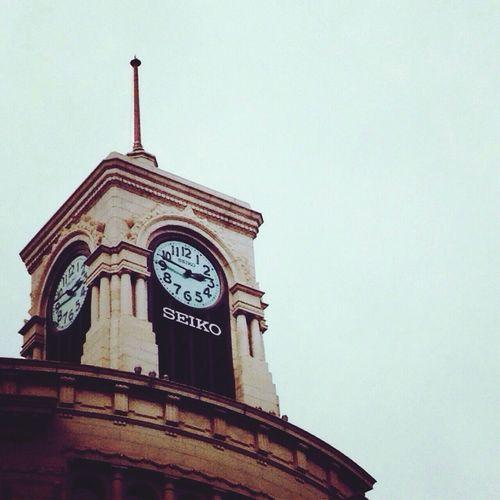 Watch The Clock 14:46 Ginza Tokyo,Japan Don't Forget Streetphotography Street Photography 銀座和光の時計。毎正時と、3月11日午後2時46分に、東日本大震災の犠牲者を悼んで特別に11回)、有名な「ウェストミンスターの鐘」が鳴る。