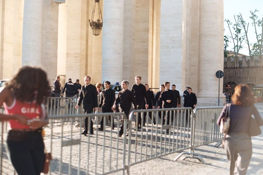 Church Moving Around Rome Preacher Rome Vatican Italy Large Group Of People Priest Real People Religion