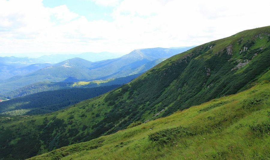 Hoverla Mounthoverla Mountains Ukraine Carpathians Vorokhta Nature Landscape Говерла Ворохта гори Україна