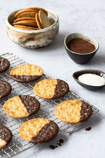 cookies dipped in chocolate   daylight food photography Snack Chocolate Unhealthy Eating Close-up Baked Dessert Ready-to-eat No People Sweet Food Bowl Still Life Food Food And Drink Cookies Chocolate Chocolate Cookies Food Photography Foodphotography Daylight Photography Nikonphotographer