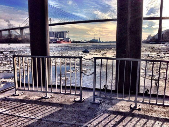 Enjoying The Sights Harbour Winter Hamburg