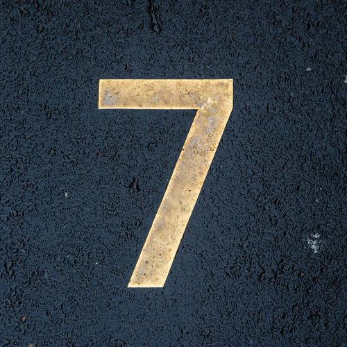 Number 7 on the asphalt