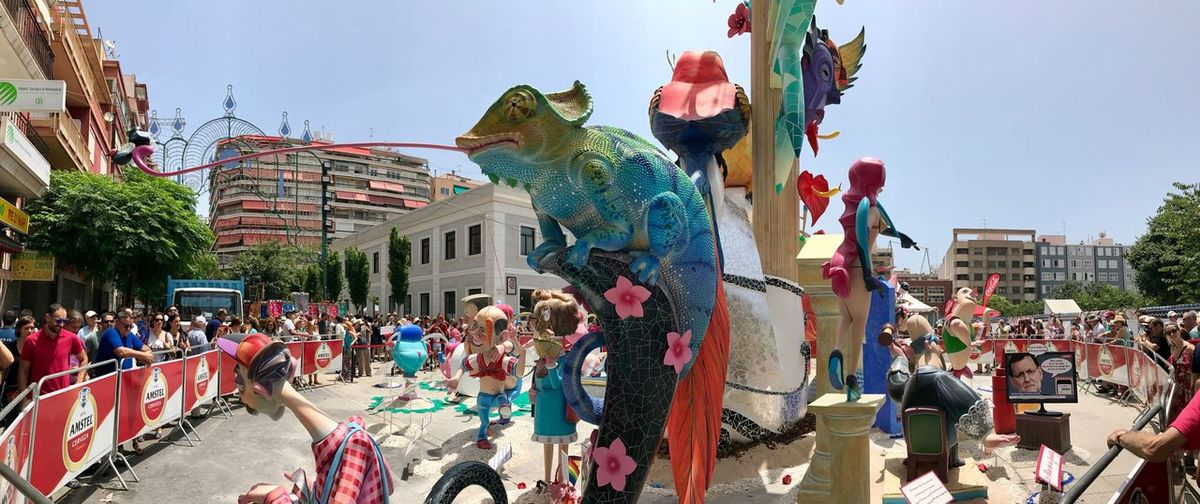 Large Group Of People Building Exterior Built Structure Architecture Celebration Day Crowd Sky Outdoors Women City Life Men Real People Leisure Activity City Arts Culture And Entertainment Chinese Dragon People Adult Adults Only Costa Blanca SPAIN Hogueras 2017 Alicante Bornfire Fest 2017