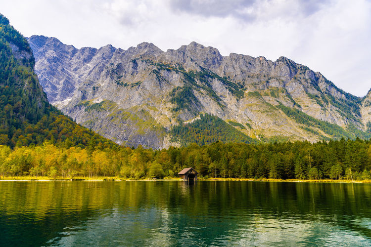 Scenic view of lake and mountain