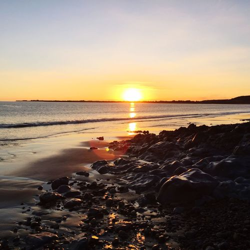 Ogmore- By- Sea South Wales Sea Sunset Horizon Over Water Nature Beauty In Nature Outdoors Scenics Tranquil Scene Beach Landscape Geology Idyllic Free Date Night Nature Wales Peaceful Place Gettingtoknowyou