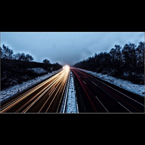 How's The Weather Today? Autobahn Winter Highway Car Winter Wounderland