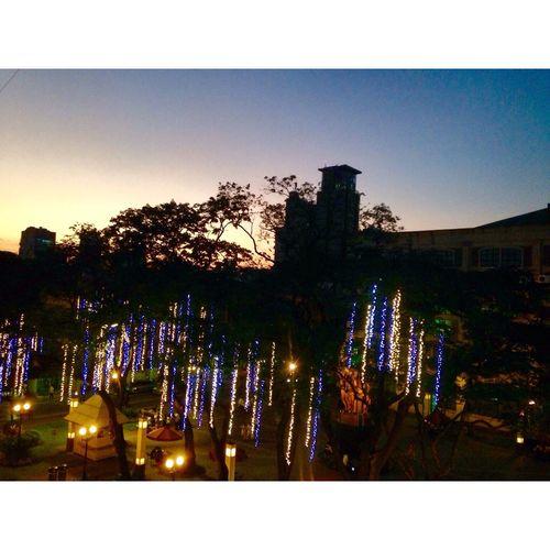 Sunset Christmas Lights Paskuhan2014 UST