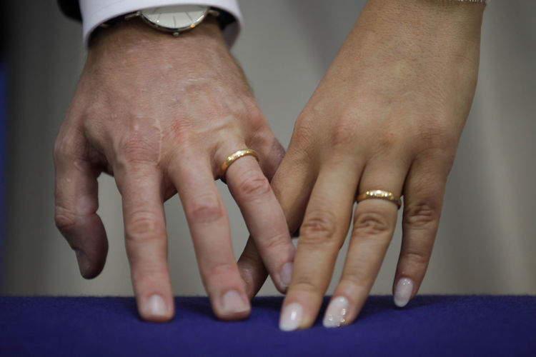 Wedding Wedding Photography Adult Bonding Bride Bridegroom Celebration Close-up Day Gold Human Body Part Human Hand Husband Indoors  Love Married Men People Real People Ring Togetherness Two People Wedding Wife Women