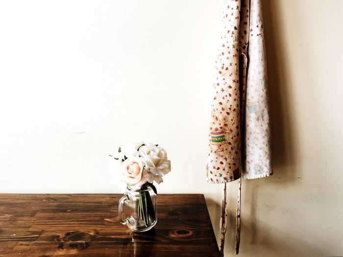 Flower vase on wall