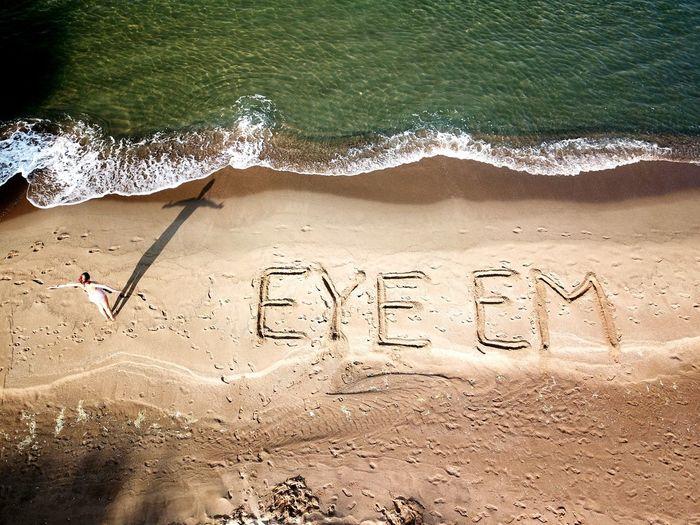 Aerial Travel High Angle View Aerial View EyeEm EyeEm Selects EyeEm Best Shots Eyeemeverywhere Eyee Water Beach Sand Communication Single Word Message Text Handwriting  High Angle View Western Script
