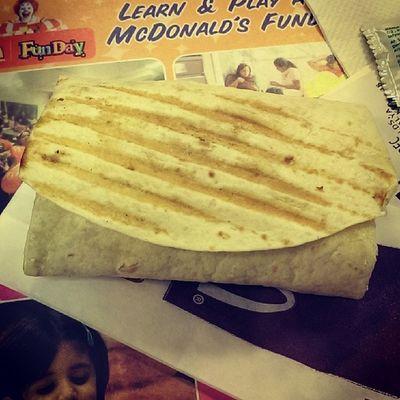 Chicken Wrap... Lovin it MacD Lovinit Food Foodie omnomnomnom bangalore