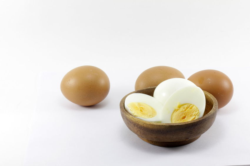 Eggs isolated on white background Eggs Isolated On White Background Boiled Egg Bowl Close-up Egg Egg Yolk Food Food And Drink Freshness Healthy Eating Ingredient No People Ready-to-eat Studio Shot White Background