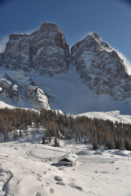 Nature Belluno Veneto Italy Schelter Mountain Snow Mountain Winter Cold Temperature Nature Outdoors No People Clear Sky Water Sky Beauty In Nature