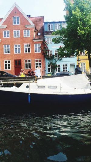 Nyhavn Copenhagen Malmököpenhamn Med Vattenskoter