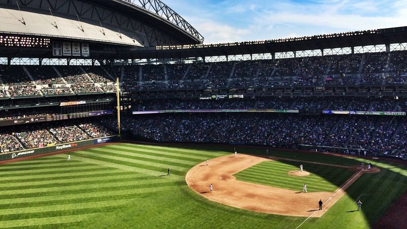 Shadows & Lines and a Fantastic Crowd at Safecofield ProCam2 Snapseed Baseball