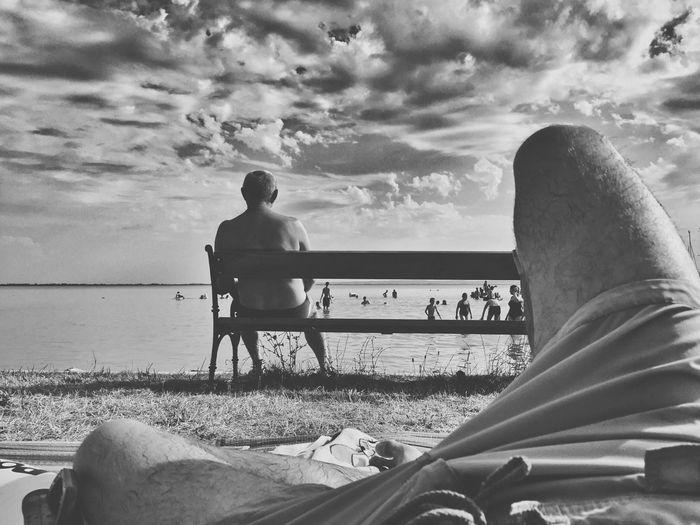 Blackandwhite Badacsony Iphone 6 IPhoneography Dramatic Sky Lake View Lake