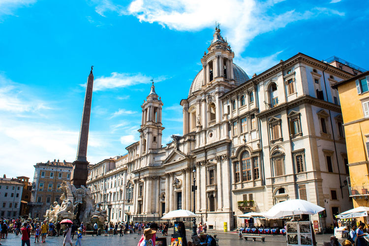 Piazza Navona Rome Adult Architecture Building Exterior Built Structure City Cloud - Sky Day Fontana Dei Quattro Fiumi Go-west-photography.com Italy Large Group Of People Lifestyles Men Outdoors People Real People Rome Italy Sky Women