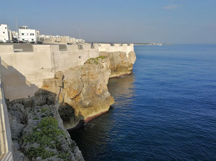 Water Sea Rock Solid Rock - Object Rock Formation Scenics - Nature Nature Cliff Beauty In Nature Day No People Land Tranquil Scene Outdoors Architecture Built Structure Largo Ardito Scogliera Panorama Panoramic Alba Mattina Presto Costa Borgo