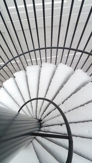 Minimalist Architecture Steps Spiral Snow Covered Spiral Staircase Check This Out Eyeemphoto Hello World EyeEm Japan Taking Photos Architecture Around The World In A Day