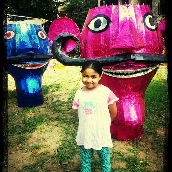 Happy Dusshera from zoya and her 2 new friends