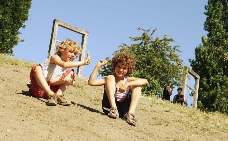 Boy Childhood Curls Fun Girl Kid Kids Playing Sommer Summer Sunshine Warm Day