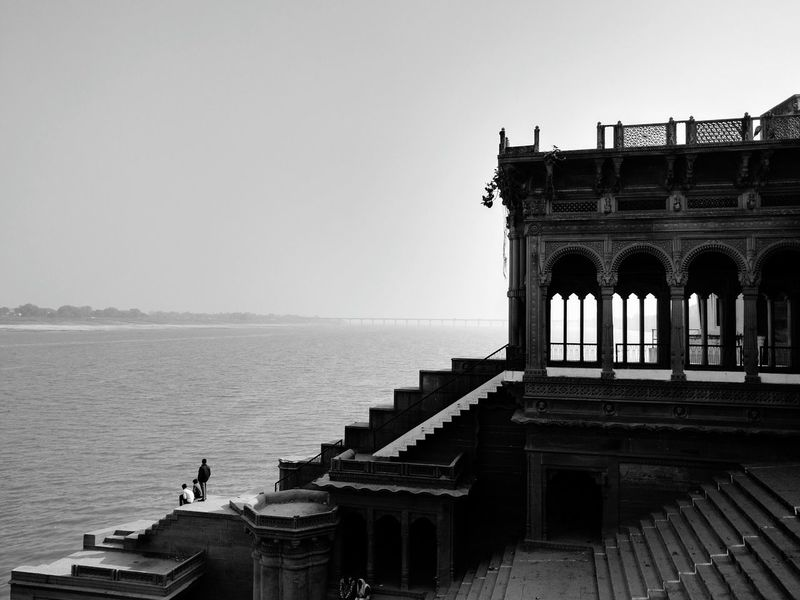 Architecture Travel Destinations History Outdoors City Arch Sky Bridge - Man Made Structure Motoxplay Ghats Of Varanasi Varansi BanarasDiaries Sculptures Around Town Beauty In Ordinary Things Black And White Blackandwhite Photography Blackandwhite Black & White Black And White Photography Black&white Landscape