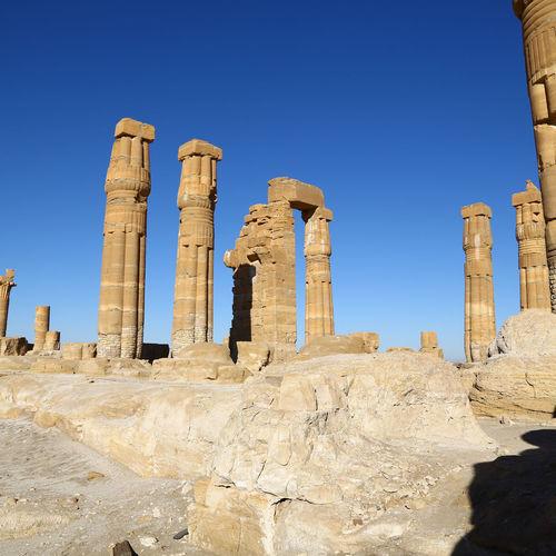 Old ruins against blue sky