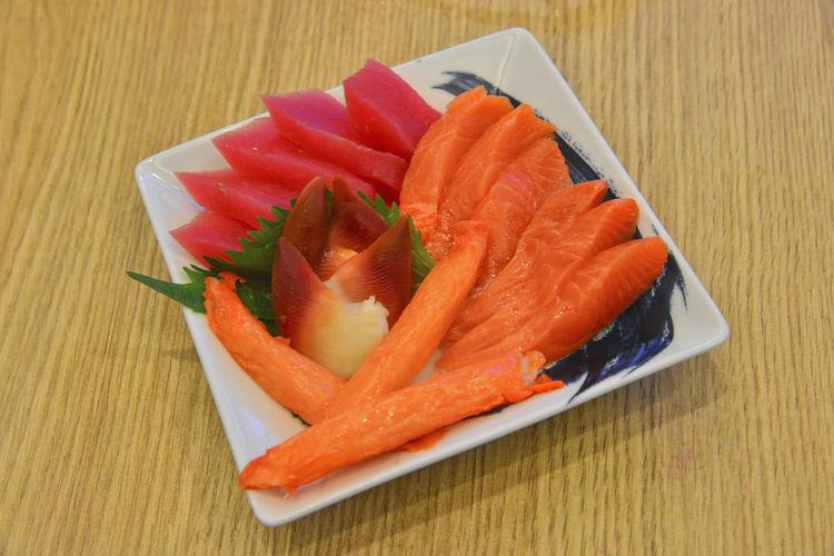 sashimi Asian Food Caviar Fish Food Food And Drink Freshness Healthy Eating High Angle View Japanese Food Ready-to-eat Salmon - Seafood Sashimi  Seafood SLICE Still Life Sushi