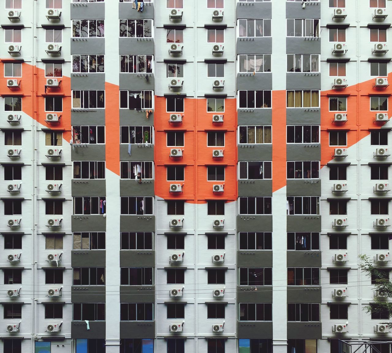 Full frame shot of apartment building in city