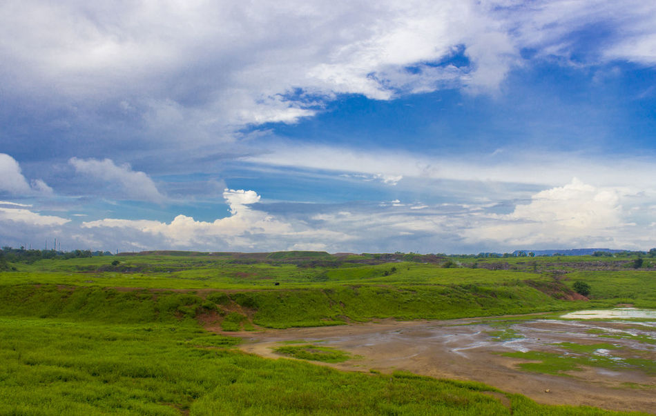 After Rain After The Rain Beauty In Nature Blue Sky Canon Canonphotography Cloud - Sky Day Dhanbad Field Grass Green Green Color Greenery Growth India Jharkhand Landscape Nature No People Outdoors Rural Scene Satish Sky Weather The Great Outdoors - 2017 EyeEm Awards