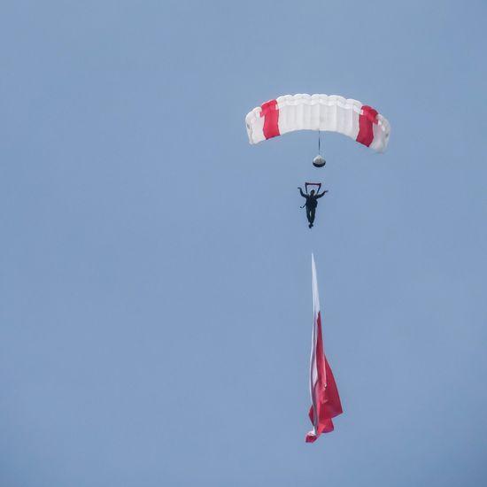 Airshow Polish flag Polishflag Airshow Parachuting Parachutism