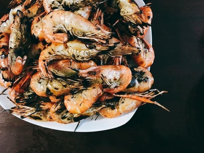 Baked Shrimp Vermicelli Shrimp Burn Day Food Food And Drink Foodphotography High Angle View No People Ready-to-eat Seafood