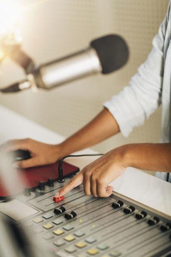Radio broadcasting from the studio