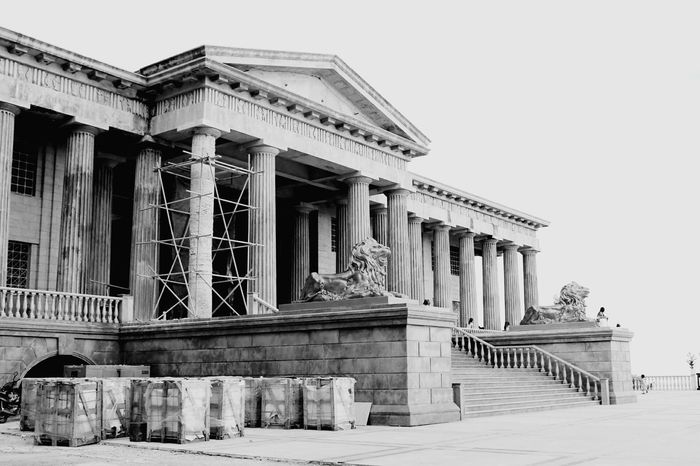 BW edit 1 Architecture Built Structure Building Exterior Travel Destinations Statue History Outdoors No People Day Randomshot Natural Beauty Random Interesting Perspectives Beauty In Nature RandomShots Enjoying Life People And Places. Staircase Beauty Dramatic Angle Outdoor Photography Architecture Interesting Stone Museum Sunlight